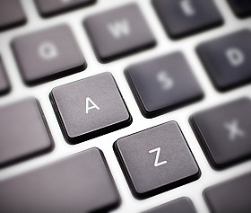 "keyboard with ""a"" to ""z"" highlighted"